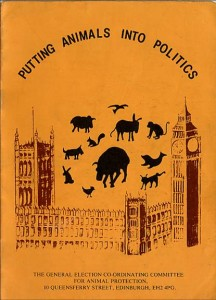 The first animal welfare manifesto published by GECCAP for the 1979 general election.
