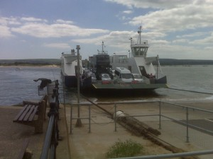 The cable chain link ferry from Poole to the Isle of Purbeck, including Swanage and Corfe Castle.