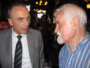 Chris Williamson MP and Dave Wetton catch up as I capture the moment.