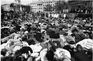 In London's Trafalgar Square on World Day for Laboratory Animals in 1984.