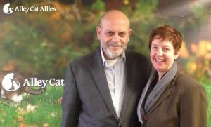 Becky Robinson, President and Founder of Alley Cat Allies, and me.