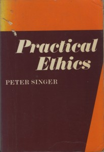 Here's the cover of my much-read copy of Practical Ethics by Peter Singer. It still contains as a book mark the receipt from Foyles book shop when I bought it on March 3, 1981 for £2.95.