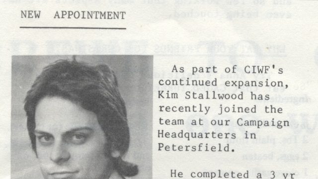 "Compassion announces my appointment in its newsletter, ""Ag Scene,"" in 1976."